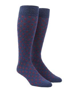 Circuit Dots Red Dress Socks