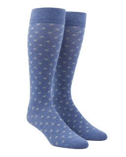Circuit Dots Blue Dress Socks