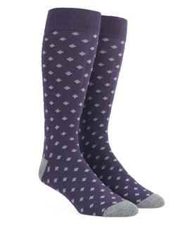 Diamonds Eggplant Dress Socks
