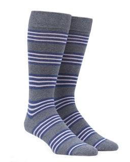 New Prep Stripe Grey Dress Socks