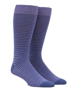 Thin Stripes Lavender Dress Socks