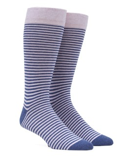 Thin Stripes Pink Dress Socks