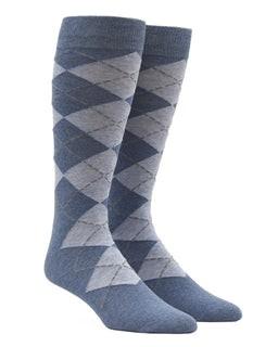 New Argyle Light Blue Dress Socks