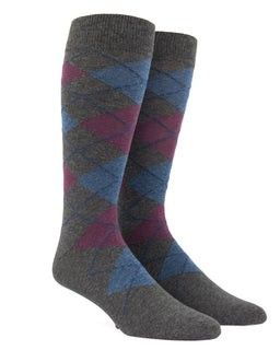 Argyle Azalea Dress Socks