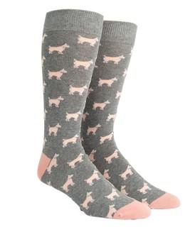 Dog Days Grey Dress Socks