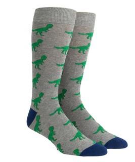 Dinosaurs Grey Dress Socks