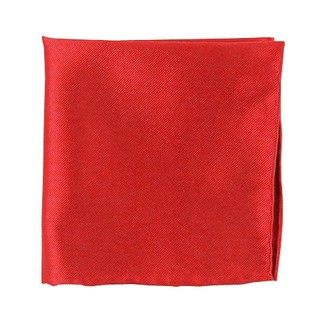 Solid Twill Red Pocket Square