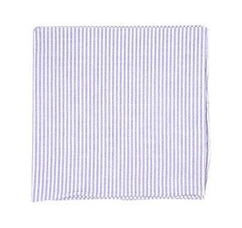 Seersucker Soft Lavender Pocket Square
