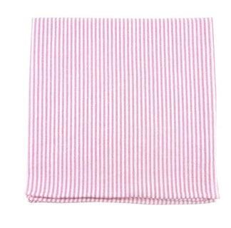 Seersucker Pink Pocket Square