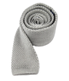Knitted Silver Tie
