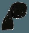 Knit Polkas Black Tie