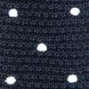 Knit Polkas Midnight Navy Tie
