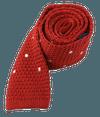 Knit Polkas Apple Red Tie