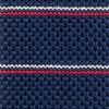Knarrow Knit Stripe Navy Tie