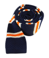 Knit Country Stripe Navy Tie