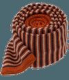 Knitted Piedmont Stripe Orange Tie
