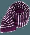 Knitted Piedmont Stripe Purple Tie