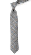 Peppered Window Pane Slate Blue Tie