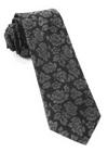 Intellect Floral Black Tie