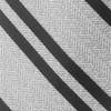 Wool Path Stripe Silver Tie