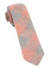 Printed Flannel Checks Orange Tie