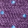 Scramble Knit Polkas Purple Tie