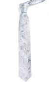 Designer Paisley Silver Tie
