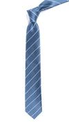 Pencil Pinstripe Slate Blue Tie