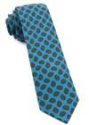 Printed Brink Paisley Ocean Blue Tie