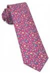 Peninsula Floral Fuchsia Tie