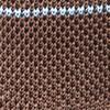 Knit Stripe Brown Tie