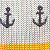 Knit Anchor Stripe Light Grey Tie
