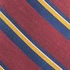 Social Stripe Burgundy Tie