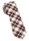 Central Park Plaid Brown Tie