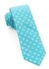 Half Moon Floral Turquoise Tie