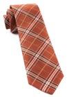 Marshall Plaid Burnt Orange Tie