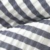 Silk Seersucker Stripe Midnight Navy Bow Tie