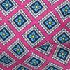 Silk Squarework Wild Pink Bow Tie