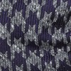 Houndstooth Thrill Eggplant Bow Tie