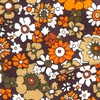 Floral Level Brown Bow Tie