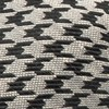 White Wash Houndstooth Light Grey Bow Tie