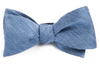 Festival Textured Solid Slate Blue Bow Tie