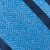 Wool Path Stripe Blue Bow Tie