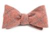 Printed Flannel Pane Orange Bow Tie
