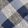 Splattered Gingham Navy Bow Tie