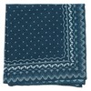 Outpost Paisley Navy Pocket Square