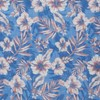 Island Blooms Classic Blue Pocket Square