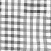E Check Black Pocket Square