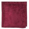 Twill Paisley Burgundy Pocket Square