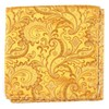 Custom Paisley Gold Pocket Square